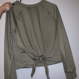 Forever 21 Army Green Long Sleeve Top